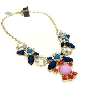 J. CREW bright & brilliant statement necklace NWT